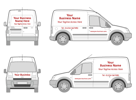 Vehicle graphics kall kwik cambridge for Van sign writing templates
