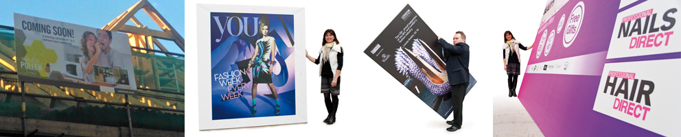 Custom Display Panel Designs for exhibitions from Kall Kwik Chiswick