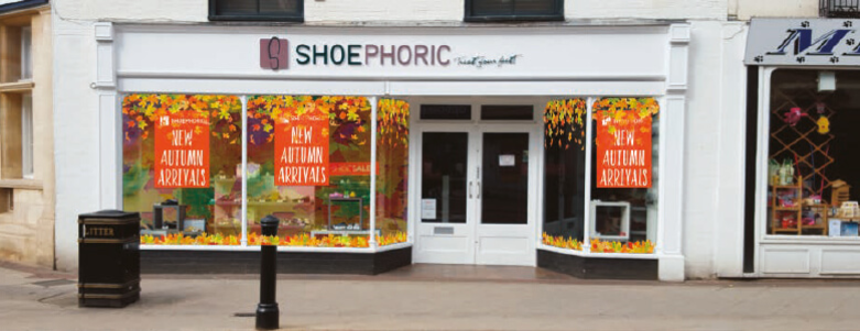Window graphics in Harrogate