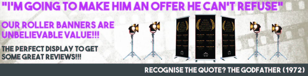 An offer you can't refuse - cheap roller banners