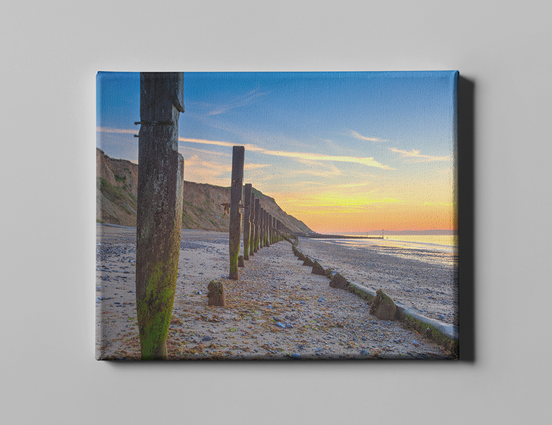 Beach scene printed on canvas