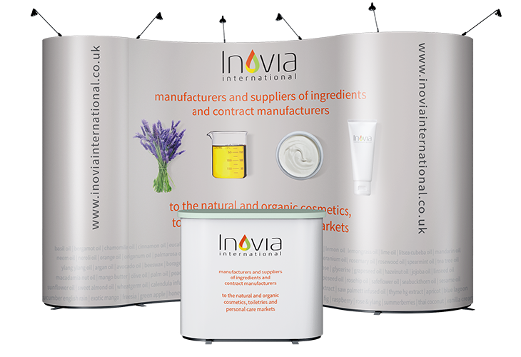 Exhibition pop-up stand with Inovia branding