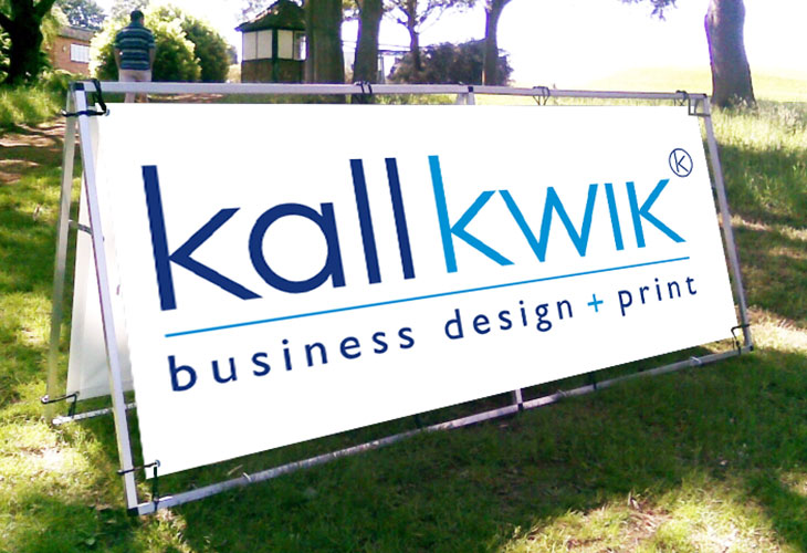 Think big about outdoor banners from Kall Kwik