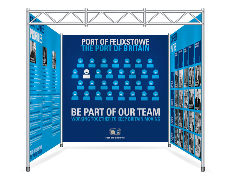 Exhibition stand shot