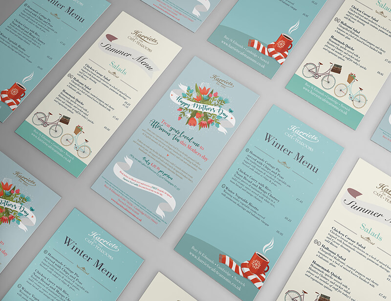Graphic design - Menu design