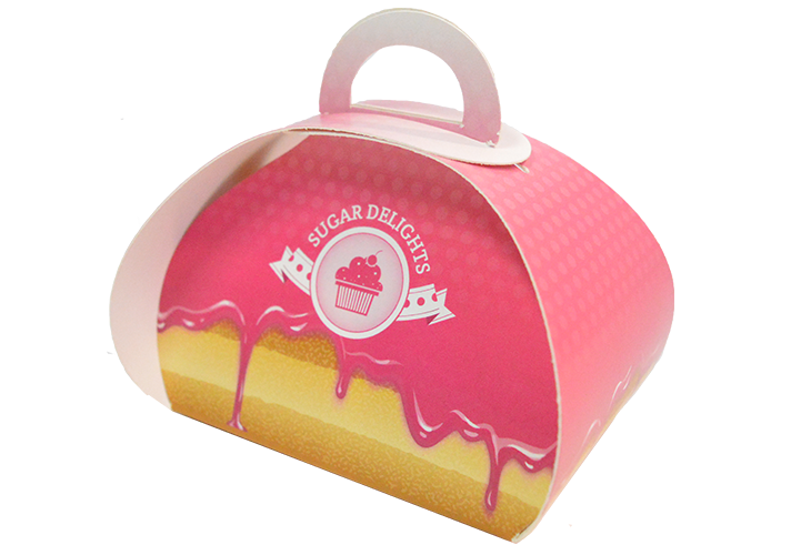 Printed dome confectionery box available from Kall Kwik Leatherhead. Short run.