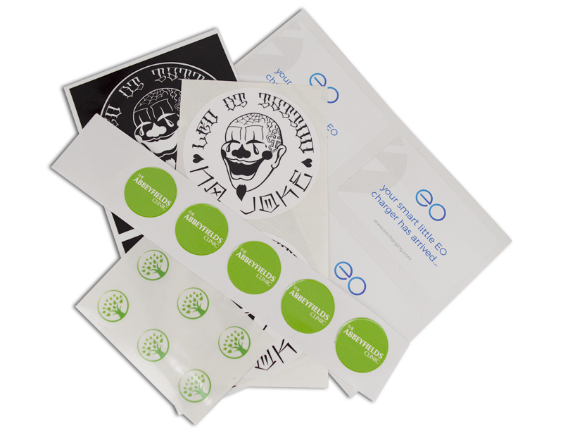 Stickers and labels printed by Kall Kwik Staines