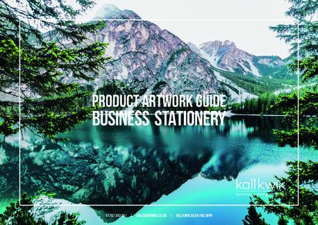 Kall Kwik WGC - Product Artwork Guide - Business Stationery