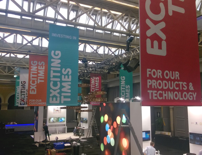 Printed Banners at Exhibition