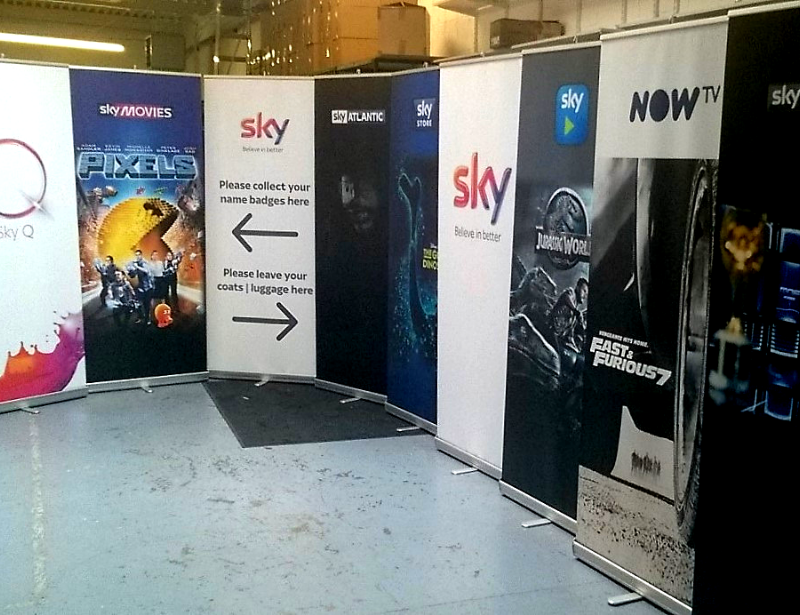 Printed Roller Banners for Sky