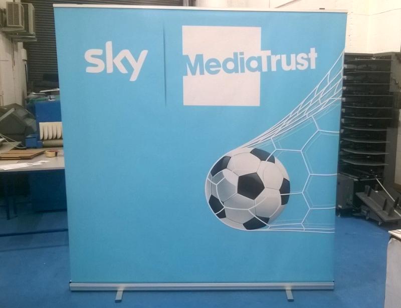 Wide Roller Banner for Sky Media
