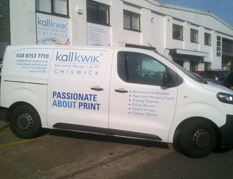 Kall Kwik Chiswick Vehicle with Printed Vinyl Vehicle Graphics