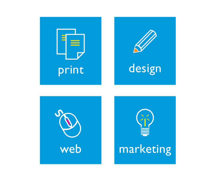 print, design, web, marketing